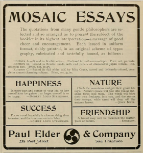 Ad from the Dec 1903 issue of The Argonaut