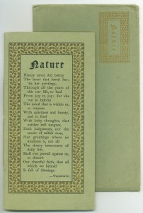 "Edition C of ""Nature,"" with matching envelope"