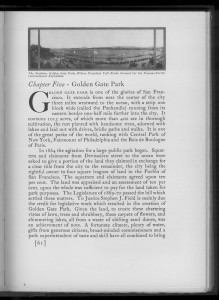 "Page 61 of ""San Francisco"". The history of Golden Gate Park."