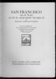 "Title page of ""San Francisco"""