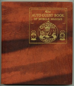 "Cover of the leather edition of ""Auto Guest Book"""