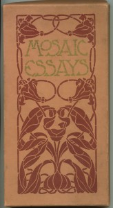 "Matching presentation box for the paper wraps edition of ""Mosaic Essays"""