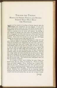 """Page 165 of """"Critic in the Occident"""": Tips for the Tourist"""