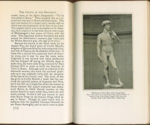 """Page 70 of """"Critic in the Occident"""". Today, David no longer wears a fig leaf."""