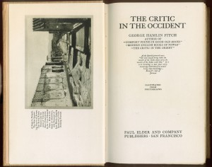 """Title page and frontispiece of """"Critic in the Occident"""""""