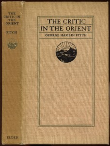 "Cover of ""Critic in the Orient"""