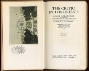"Title page of ""Critic in the Orient"""