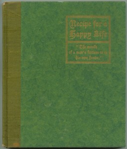 "Cover of ""Recipe For a Happy Life,"" green version"