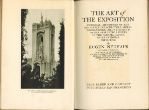 "Frontispiece and title page of ""Art of the Exposition"""