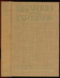 "Cover of ""Galleries of the Exposition"", cloth on boards issue"