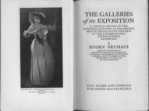 "Title page and frontispiece of ""Galleries of the Exposition"""