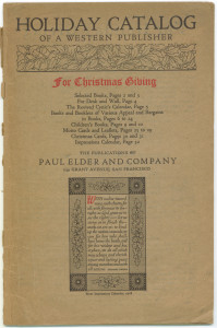 Paul Elder's holiday catalog for December 1917.