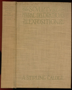 "Cover of ""Sculpture and Mural Decorations of the Exposition"""