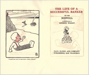 "Title page and frontispiece of ""Life of a Successful Banker"""