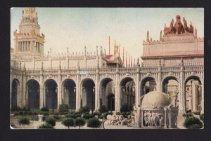 Postcard of Mullgardt's Court of Abundance at the PPIE