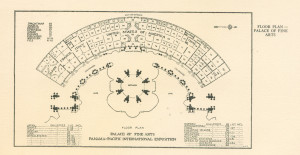 Plan of the Palace of Fine Arts galleries