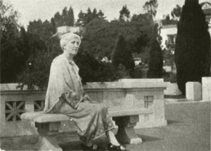 Cora Williams in 1930, at her school in the Berkeley hills.