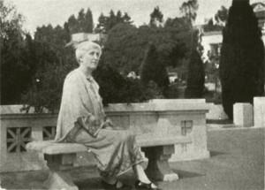 Cora Williams in 1930, at her school in the Berkeley hills.