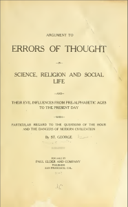 "Title page of ""Errors of Thought"""