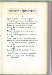 The first sonnet.