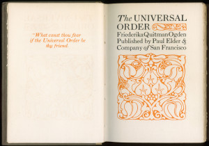 "Title page of ""The Universal Order"""