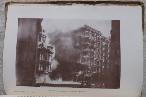 Plate X: The Old Palace Hotel succumbs to the fire