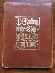 "Leatherbound version of ""The Building of the Ship"""