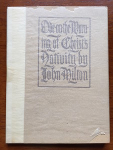 "Cover of ""Ode on the Morning of Christ's Nativity,"" with glassine dustjacket"