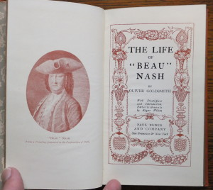 "Title page and frontispiece of ""The Life of 'Beau' Nash"""