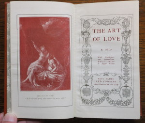 "Title page of ""The Art of Love"""