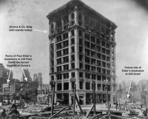 Burned out shell of the Shreve Building