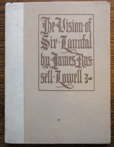 "Cover of ""The Vision of Sir Launfal"""