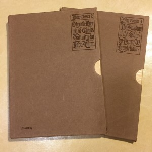"Two slipcases from ""The Abbey Classics"""
